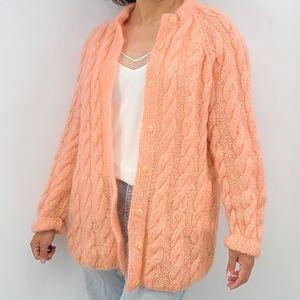 Vintage Oversized Chunky Knit Cardigan